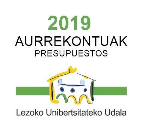 Aurrekontuak 2019